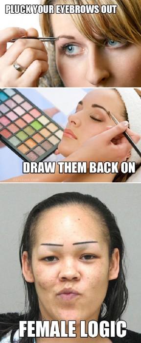 female eyebrow logic