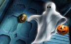 ghost tricker or treater wallpaper