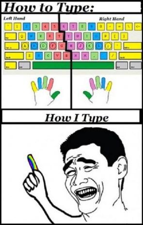 how I type