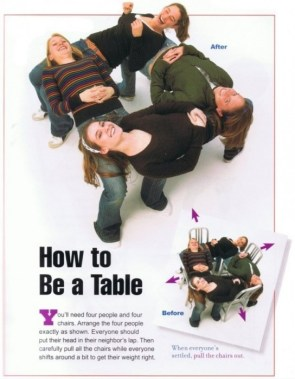 how to be a table