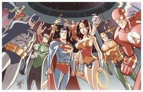 justice league – on the satilite