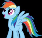 rainbow dash is happy