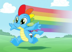 the new rainbow dash is spike
