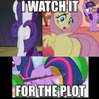I watch it for the plot