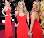 Jennifer Lawrence in a sexy red dress