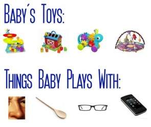 babys toys vs things baby plays with