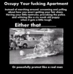 occupy your fucking apartment