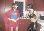 supergirl vs catwoman – kitchen fight