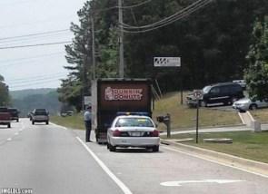 dunkin donuts roadside stop