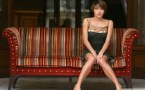 emma de caunes on a couch