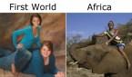 first world vs africa