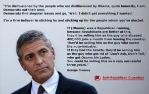 george clooney – anti-republican crusaders