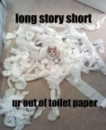 long story short – your out of toilet paper