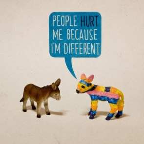 people hurt me because I\'m different