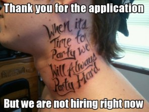 thank you for your application
