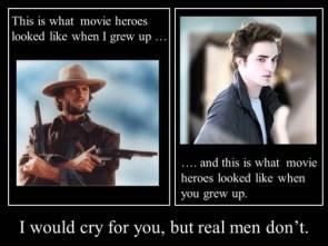 what movie heroes looked like