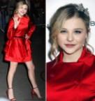 Chloe Moretz in red