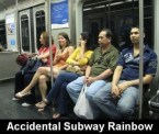 accidental subway rainbow