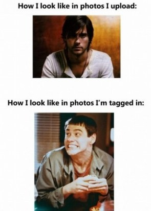 how I look in photos