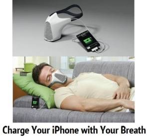 Charge your iPhone with your breath