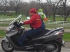 Mario on a bike
