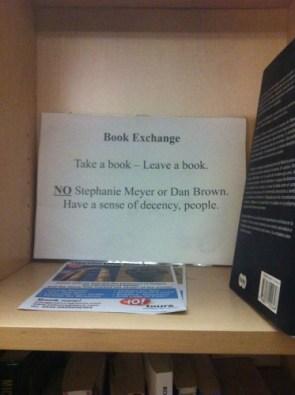 book exchange – have a sense of decency