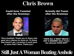 chris brown – still just a woman beating asshole