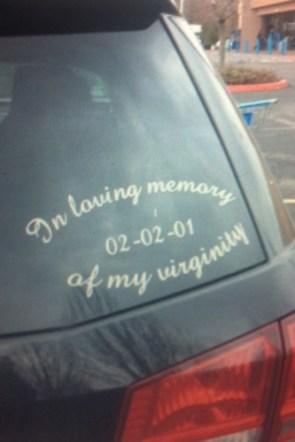 in loving memory of my virginity