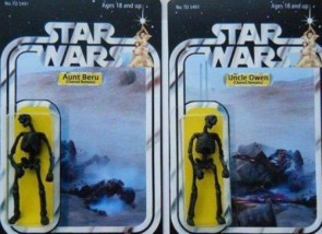 star wars toys – burnt remains