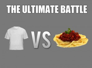 the ultimate battle – shirt vs pasta