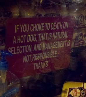 choking to death on a hot dog is natural selection