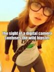 digital camera confuses hipster