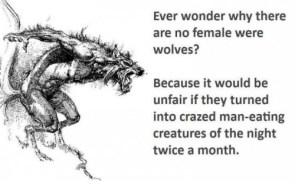 no female werewolves