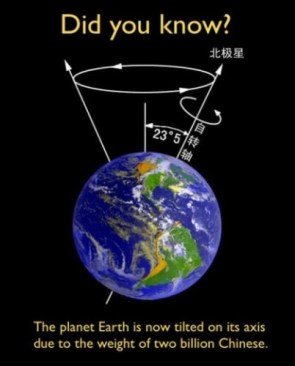 the planet earth is tilted