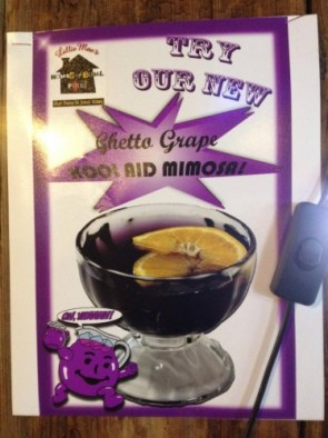 try our new ghetto grade kool aid mimosa