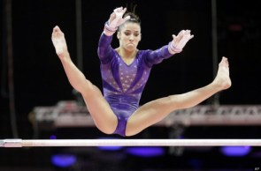Alexandra Raisman on the uneven bars