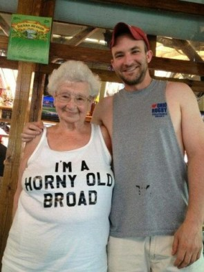 I am a horny old broad