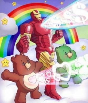 care bear power with iron man