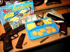 kid cuisine and guns