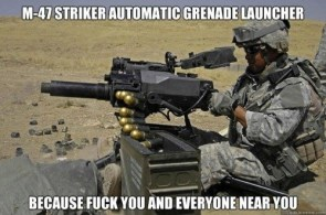 m-47 striker automatic greande launcher