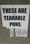 these are tearable puns