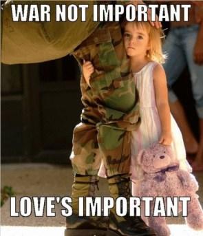war not important