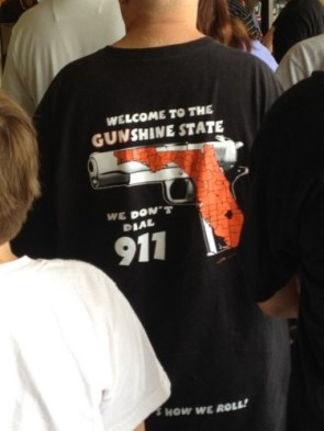 welcome to the gunshine state – we dont dial 911