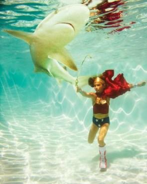 wonder woman vs shark