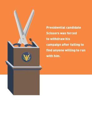 Presidential candidate Scissors