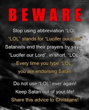 beware – stop using abbreviation LOL