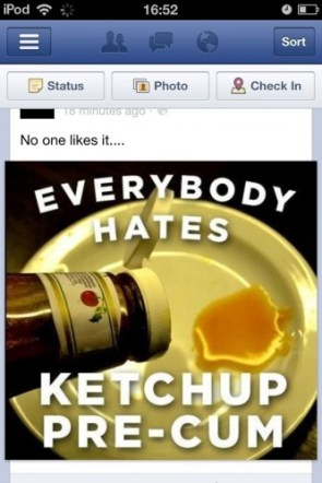 everybody hates ketchup pre-cum
