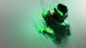 halo – green flames