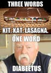 three words – kit kat lasagna