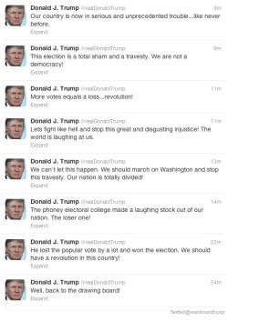so trump had a melt down on twitter
